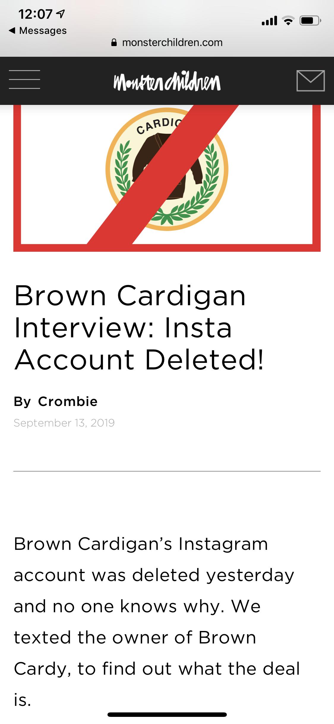 Brown Cardigan: Post #56448